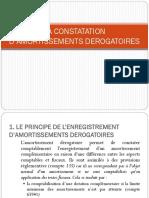 Compta Appro La Constatation d Amortissements Derogatoires