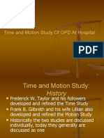 Time and Motion Study Of OPD