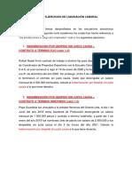 TALLER EJERCICIOS INDEMNIZACIONES LABORALES