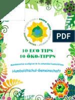 10 ECO TIPS del Colegio Humboldt (español-deutsch)