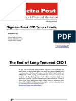 CHANGE OF CEO IN NIGERIAN BANKING SYSTEM
