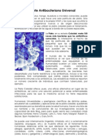 Plata Coloidal, potente antibacteriano universal