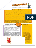 The History of Halloween for eslprintables
