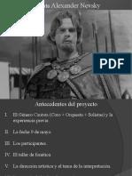 Presentación Alexander Nevsky para COTTC