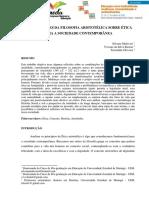 CONTRIBUIÇÕES DA FILOSOFIA ARISTOTÉLICA SOBRE ÉTICA