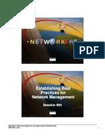 Establishing Best Practices for Network Management