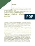 Ispanismi in italiano e italianismi in spagnolo