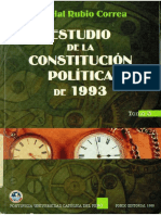 Estudio de La Constitucion Politica de 1993 Marcial Rubio Tomo 3