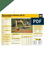 Miniescavadeira Cat 302.5c 2007