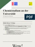 Chemiestudium an Der Universtiät by Slidesgo