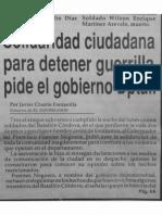 EI_Solidaridad ciudadana para detener guerrilla pide Gobierno Dptal_19930120