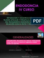 REPARACION Y CICATRIZACION DE TEJIDOS APICALES Y PERIAPICALES DESPUES DEL TX ENDODONTICO