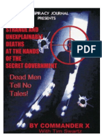 Commander X & Swartz - Strange and Unexplainable Deaths at the Hands of the Secret Government - Dead Men Tell No Tales (2005)