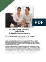 Un programa de consejería en la iglesia Dr. Rogelio Aracena Lassere