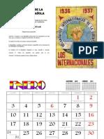 Calendario Constitucion Republica Espanola