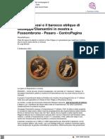 I corpi sinuosi e il barocco obliquo di Giuseppe Diamantini in mostra a Fossombrone - Centropagina.it, 4 settembre 2021
