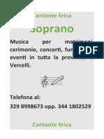 Cantante Lirica Vercelli