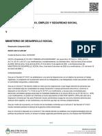 MINISTERIO DE TRABAJO, EMPLEO Y SEGURIDAD SOCIAL Y MINISTERIO DE DESARROLLO SOCIAL