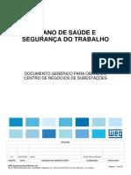 ANEXO II - Plano de Saúde e Segurança do Trabalho - Genérico para obras do CNS - Rev.0A