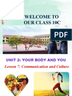 Unit 02 Your Body and You Lesson 7 Communication and Cuture