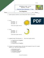 Ficha Diagnostica 7º Ano