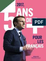 Tract de la majorité présidentielle sur le bilan du quinquennat d'Emmanuel Macron