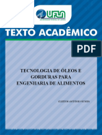 TA 71 - Tecnologia de óleos e gorduras para engenharia de alimentos