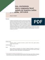 Cópia de Desastres, crecimiento económico y respuesta fscal en los países de América Latina y el Caribe, 1972-2010