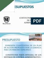 PRESENTACION DE PRESUPUESTOS E-A 21