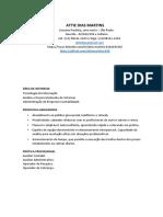 Currículo - Attie Dias Martins