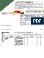 APR-Corte da Parede  das canaletas de Ar Comprimido.