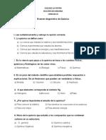 Examen Diagnostico de Quimica