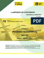 COMPENDIO - UNIDAD I - DESARROLLO PERSONAL - 2021-S1