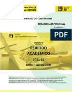 COMPENDIO - UNIDAD II - DESARROLLO PERSONAL 2021  S1
