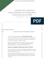 Devenir administrateur Systèmes _ bases, installation et configuration de Windows Server 2019 - Gandal Smart