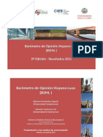 Barómetro de Opinión Hispano-Luso 2011, Presentación