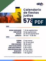 Calendario Judio Aishlatino 5782