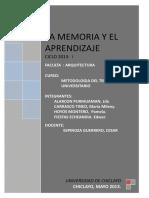 LA MEMORIA Y EL APRENDIZAJE