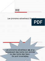 Pronom Y en français