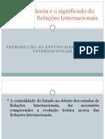 A importância e o significado do estudo das RI 2019 (2)
