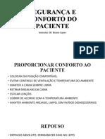 3. SEGURANÇA E CONFORTO DO PACIENTE