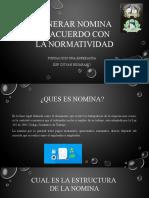 GENERAR NOMINA DE ACUERDO CON NORMATIVIDAD2