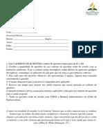 Simulado do MANUAL ADM DBV OFICIAL