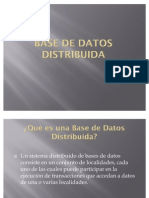 Presentacion Base de Datos Distribuida