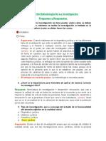 Parcial De Metodología De La Investigación- PREGUNTAS Y RESPUESTAS.