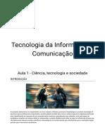 tecnologia da informação aula 1
