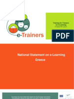 E-Trainers_National Statement on E-Learning_Greece