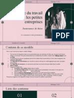 L'Éthique Du Travail Dans Les Petites Entreprises - Soutenance de Thèse by Slidesgo (1)