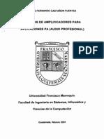 Analisis de Amplificadores para Aplicaciones PA (Audio Profesional)