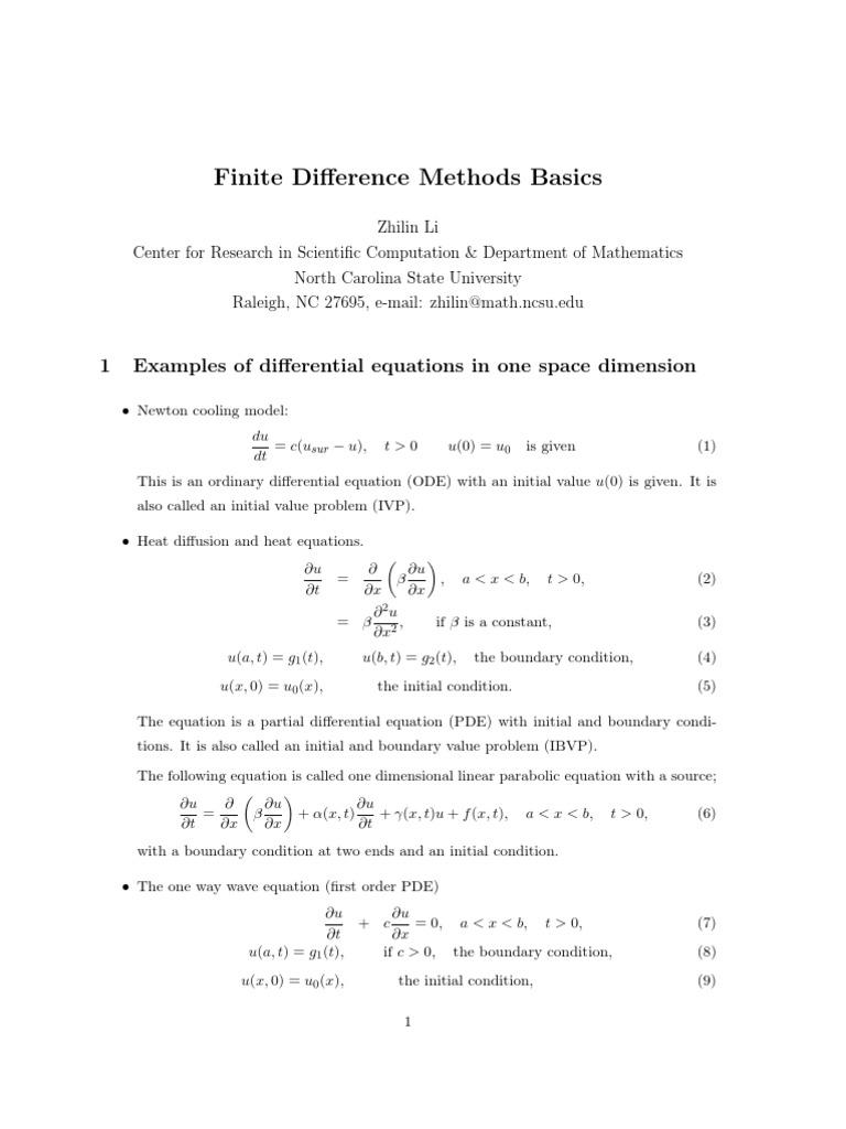 Finite Diference Method 2